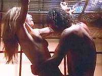 Rebecca De Mornay naked & gets licked through cage