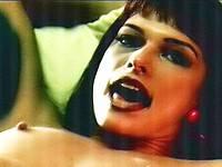 Milla Jovovich all naked & wild lesbian sex scenes