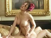 Asia Argento revealing big tits while rides a dick