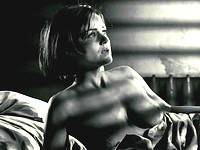 Carla Gugino exposes huge tits & hot ass in thong
