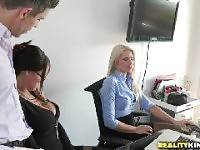 Friendly fondling. Mick Blue Anikka Albrite Peta Jensen