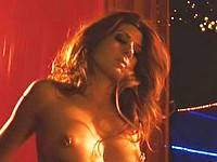 Marisa Tomei shows pierced nipples while stripping