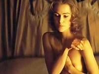 Keira Knightley flashes bare tits & seethru scenes