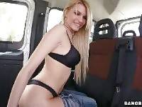 Stranded Ukrainian babe rides the bus. bang bus