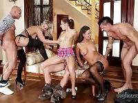 SWINGERS ORGIES #09, SCENE #03. George Uhl, Neeo, Samantha Jolie, Lara, Simony Diamond