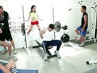 Sexy Babes And Tough Guys Get Horny In Gym 1