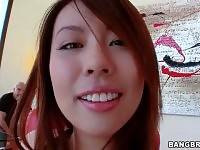 Asian cutie Tiger Benson owns amazing huge boobs.