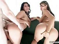 Two pretty Latinas with big natural tits. Juliana, Natalie