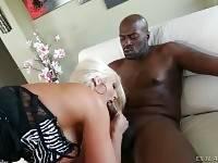 Black Man And White Milf Make Hot Love 1