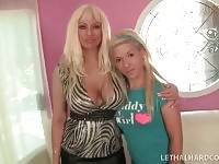 Busty Milf Introduces Her Sexy Young Daughter 1
